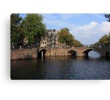 Amsterdam Stone Arch Bridge Canvas Print