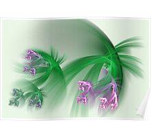 Grass flowers Poster
