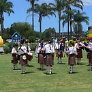 Scottish Pipes & Drums in the park in Taree. by Heabar