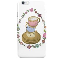 Teacup Tower Illustration iPhone Case/Skin