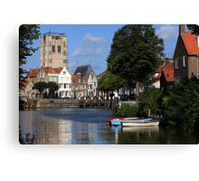 Tranquil Village Scene Canvas Print