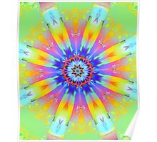 Summer mood, fractal abstract design Poster