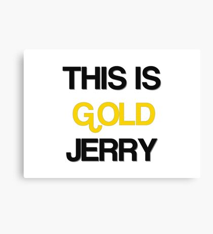 Gold Jerry Seinfeld Quotes Tv Show Canvas Print
