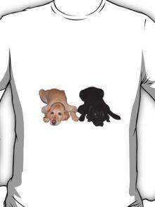 Golden Retriever and Black Lab T-Shirt