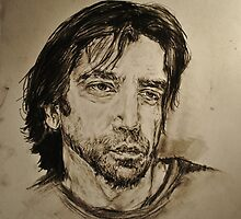 Javier Bardem Portrait  by Katie  McNeice