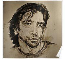 Javier Bardem Portrait  Poster