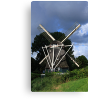 Windmill In Dutch Countryside Canvas Print