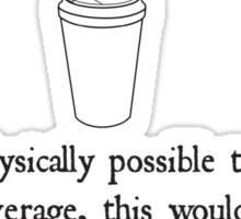 Hot Beverage Sticker