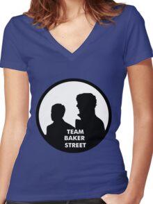 TEAM BAKER STREET Women's Fitted V-Neck T-Shirt