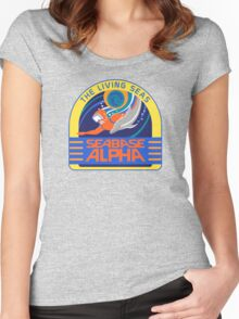 Seabase Alpha The Living Seas Women's Fitted Scoop T-Shirt