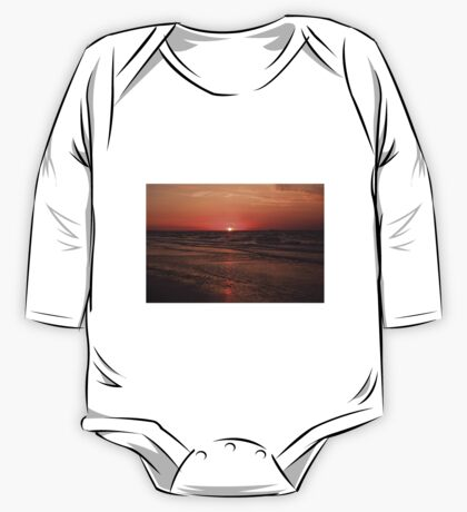 Normandy Beach At Sunset One Piece - Long Sleeve