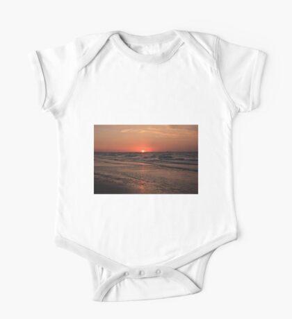 Normandy Beach At Sunset One Piece - Short Sleeve