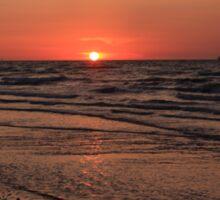 Normandy Beach At Sunset Sticker