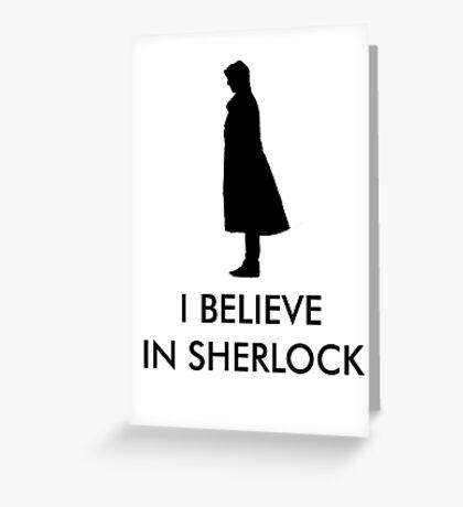 I Believe in Sherlock - Red Greeting Card