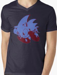 Minimalist Sonic 2 Mens V-Neck T-Shirt