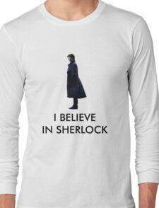 I Believe in Sherlock - White Long Sleeve T-Shirt