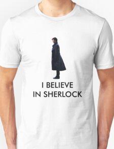 I Believe in Sherlock - White T-Shirt