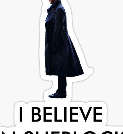 I Believe in Sherlock - White Sticker