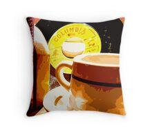 Rockin' Cuppa Throw Pillow