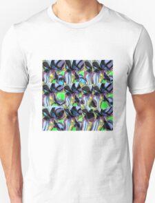 Blue Black Frangipani T-Shirt