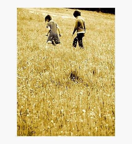 Childhood Dreams in Sepia Photographic Print