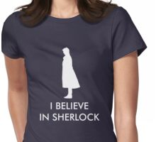 I Believe in Sherlock - Navy Womens Fitted T-Shirt