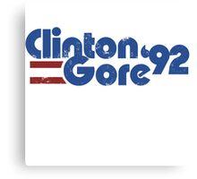 Clinton GORE 92 Canvas Print