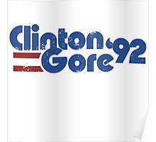 Clinton GORE 92 Poster