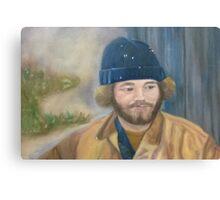 Man in blue hat Canvas Print