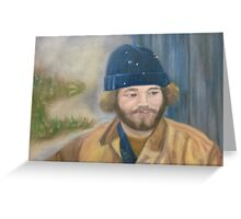 Man in blue hat Greeting Card