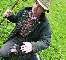 Shepherd and Dog by MirandaJL
