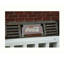 Old fashion bench advertising  Art Print