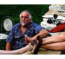 Santa On Vacation Photographic Print