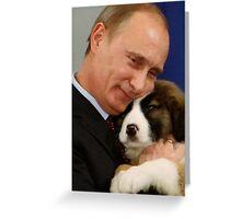 Putin with Dog Iphone Case Greeting Card
