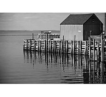 Hall's Harbour Wharf (B&W) Photographic Print