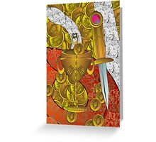 dagger and chalice Greeting Card
