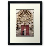 Central West Portal Framed Print