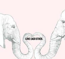Elephant Love - Bold Text by jelemeno