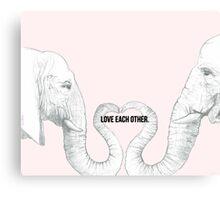Elephant Love - Bold Text Canvas Print