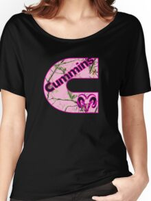 Cummins Dodge Pink Camouflage Women's Relaxed Fit T-Shirt