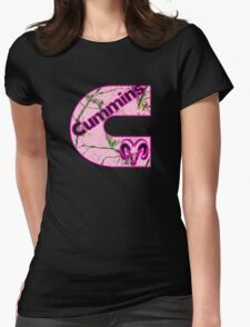 Cummins Dodge Pink Camouflage Womens Fitted T-Shirt