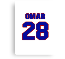 National baseball player Omar Olivares jersey 28 Canvas Print