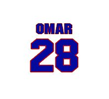 National baseball player Omar Olivares jersey 28 Photographic Print