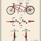 Tandem Bicycle Patent - Colour by FinlayMcNevin
