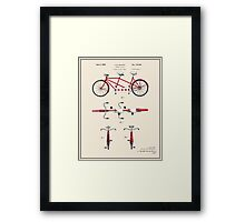 Tandem Bicycle Patent - Colour Framed Print