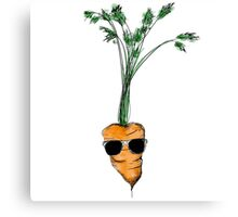 Tarrot the Carrot (colour) Canvas Print