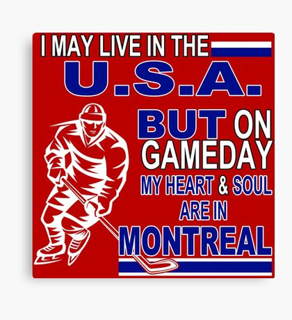 Heart & Soul in Montreal (red) Canvas Print