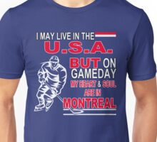 Heart & Soul in Montreal (blue) Unisex T-Shirt