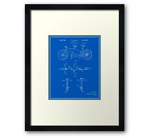 Tandem Bicycle Patent - Blueprint Framed Print