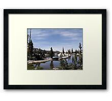 Red Lake Framed Print